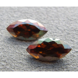 Navette Swarovski 4228 10X5mm Crystal Copper (x1)