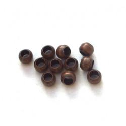 Perles à écraser 2mm Cuivre lot de 200 environ (X1)