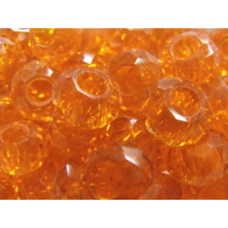 Perle Orange pour Buna cord ou pvc 14X8X5mm(X1)