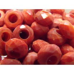 Perle Dark Coral pour Buna cord ou pvc 14X8X5mm(X1)