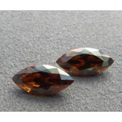 Navette Swarovski 4228 15X7mm Crystal Copper (x1)
