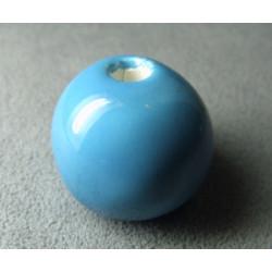 Perles en céramique boule approx. 22-24mm Bleu (x1)