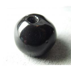 Perles en céramique boule approx. 22-24mm Noir (x1)