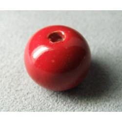 Perles en céramique boule 16mm Tomate (x1)