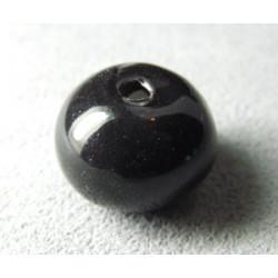Perles en céramique boule 16mm Noir (x1)
