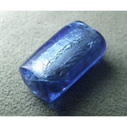 Perle en pâte de verre palet rectangle approx. 25x15mm épaisseur 10mm - Sapphire (x1)