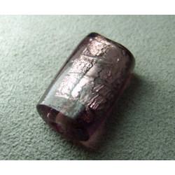 Perle en pâte de verre palet rectangle approx. 25x15mm épaisseur 10mm - Amethyst (x1)