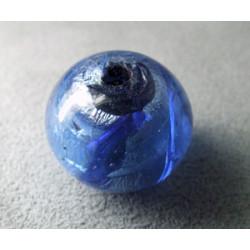 Perle en pâte de verre boule approx. 20mm - Sapphire (x1)