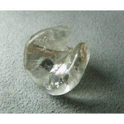 Perle en pâte de verre spirale approx. 20mm - Cristal (x1)