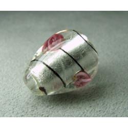 Perle à la lampe poire 20x15mm - Blanc (x1)