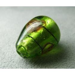 Perle à la lampe poire 20x15mm - Olivine (x1)