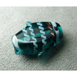 Perle à la lampe poisson 23mm - Teal (x1)