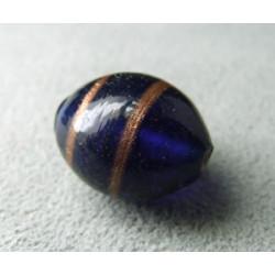 Perle à la lampe olive 16mm - Cobalt (x1)