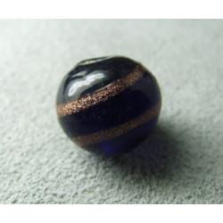Perle à la lampe boule 12mm - Cobalt (x1)