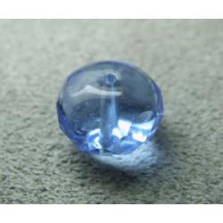 Donut en verre de Chine 10x7mm - Sapphire (x1)