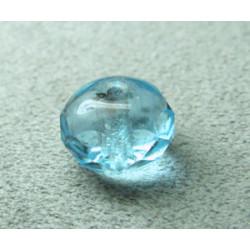 Donut en verre de Chine 10x7mm - Aquamarine (x1)