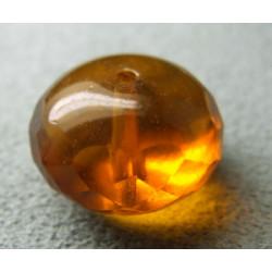 Donut en verre de Chine 17x11mm - Topaz (x1)