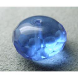 Donut en verre de Chine 17x11mm - Sapphire (x1)