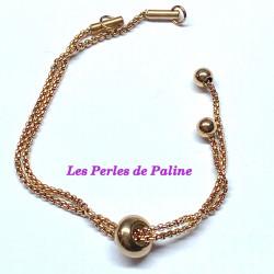 Chaine Bracelet Rose Gold 12X2cm (X1)