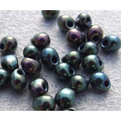 DP-0453 Drops 3.4mm Miyuki Metallic Green Iris (=DB007) (x boite de 10gr)