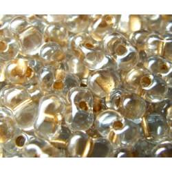 BB-1521 Berry Miyuki Sparkle Beige Lined Crystal (x boite de 10g)