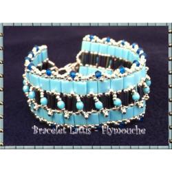 """Schéma du bracelet """"Lattis"""" de Flymouche"""