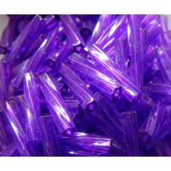 BGL-12TW-1721 Bugles Twistés Miyuki 12mm Dyed Tr Dk Purple (x10gr)