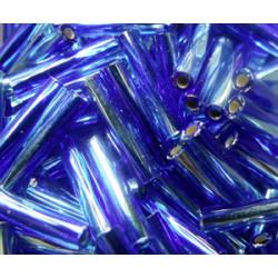 BGL-12TW-3939 Bugles Twistés Miyuki 12mm S/L Aqua Cobalt (x10gr)
