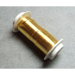 Bobine Fil de Cuivre (doré) 0,5mmX9m(X1)