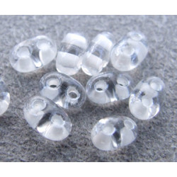 Twin Beads 2,5X5mm Crystal White Color Lined (x tube de 23gr env.)