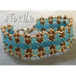 """Schéma du bracelet """"Nacile"""" de Flymouche"""