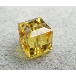 Perle cube en cristal Swarovski 5601 6mm Light Topaz (x1)