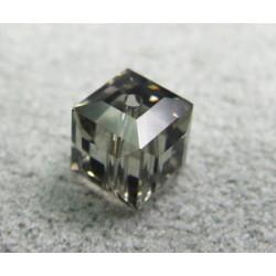 Perle cube en cristal Swarovski 5601 6mm Black Diamond (x1)