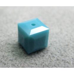 Perle cube en cristal Swarovski 5601 6mm Turquoise (x1)