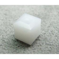 Perle cube en cristal Swarovski 5601 6mm White Alabaster (x1)