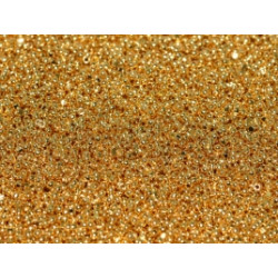 Charlottes True Cut Seed Beads Gold Plated 24 K 15/0 (X1gr)