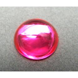 Cabochon en résine 18mm Rose (x1)