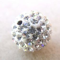 Perle strass pour Shamballa Crystal Résine 12mm (X1)