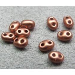 Twin Beads 2,5X5mm Cuivre (x sachet de 25gr env.)