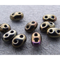 Twin Beads 2,5X5mm Jet Iris Brown (x sachet de 25gr env.)