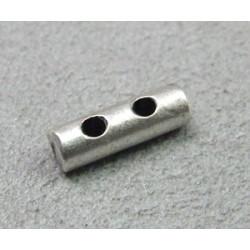 Perle intercalaire barrette 2 rangs 12x4mm - argenté (x1)