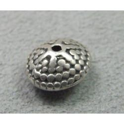 Perle intercalaire 12x7mm - argenté (x1)