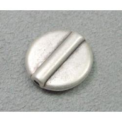 Perle intercalaire disque 17mm - argenté (x1)