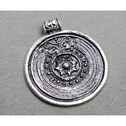 Breloque Argenté Médaille antique 50mm (x1)