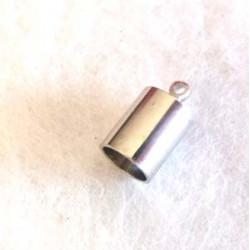 Embout 10x5mm Vieil Argent (X2)
