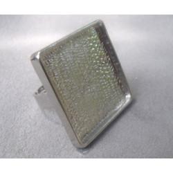 Bague plateau vieil argent 25mm anneau 19mm(X1)