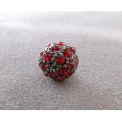 Perle strass pour Shamballa Siam 10mm (X1)