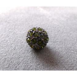Perle strass pour Shamballa Vert 10mm (X1)