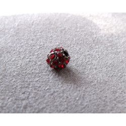 Perle strass pour Shamballa Siam 8mm (X1)