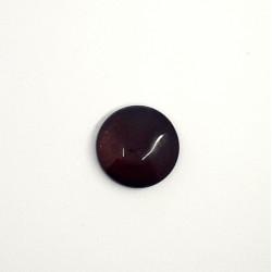 Cabochon rond en verre 20X5.6mm Grenat (x1)